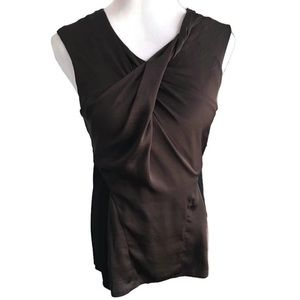 Vince Camuto Brown and Black Sleeveless Top Size M